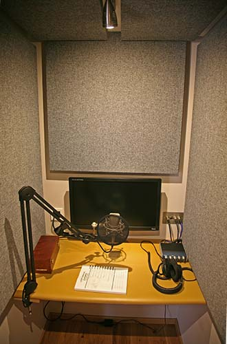 Picture of voice-over booth