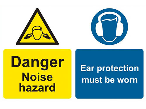 Picture of noise hazard signs