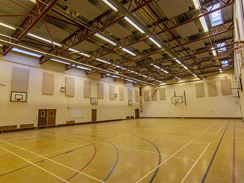 Picture of Thomas Alleyne School sports hall, Stevenage, Hertfordshire UK